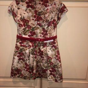 Mayoral Dresses - Girls Floral Velvet Dress